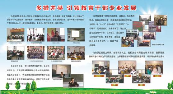 承德市教育干部培训成果展示素材